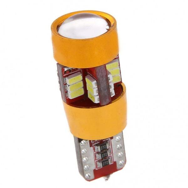 2pcs T10 3014 27SMD White LED 12V Car Width Light Reading Lamp Bulbs