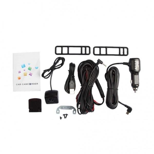 Anytek A80+ 5in Dual Lens 1080P Car Rearview Mirror DVR Camera Dash Cam