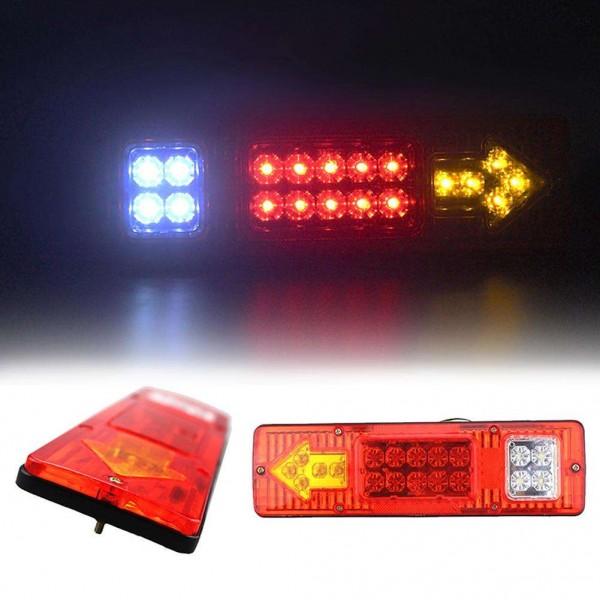 1pair Waterproof 19 LED Truck Rear Turn Signal Light Trailer Reverse Lamp