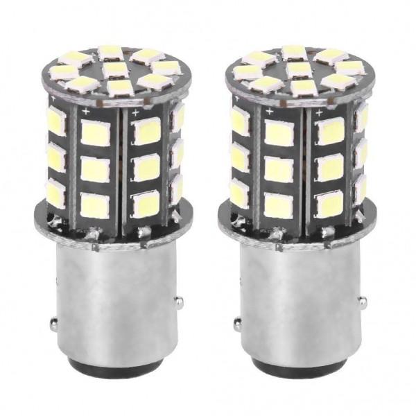 1 Pair 1157/BAY15D 33 SMD2835 LED Car Tail Brake Stop Light Fog Lamp Bulbs